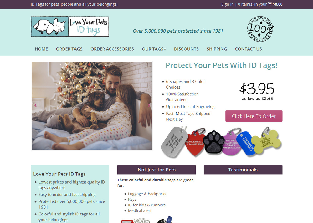 Image Dog Tags from Love Your Pets