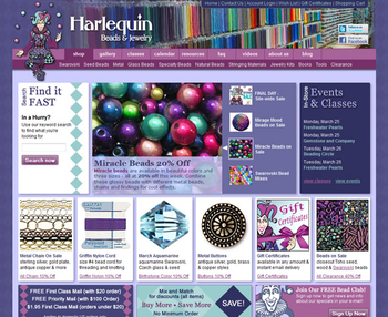 Image Harlequin Beads & Jewelry