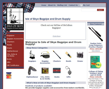 Image Isle of Skye Bagpipe and Drum Company