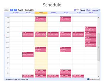 Image Embedded Calendar